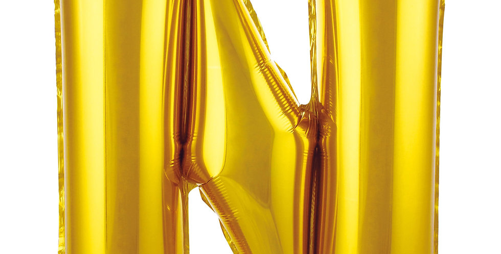 N HARF FOLYO BALON GOLD (86 CM)