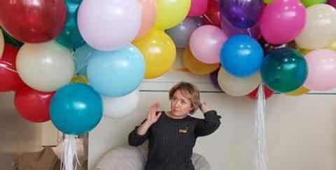 80 Adet Karışık Renk Uçan Balon Demeti