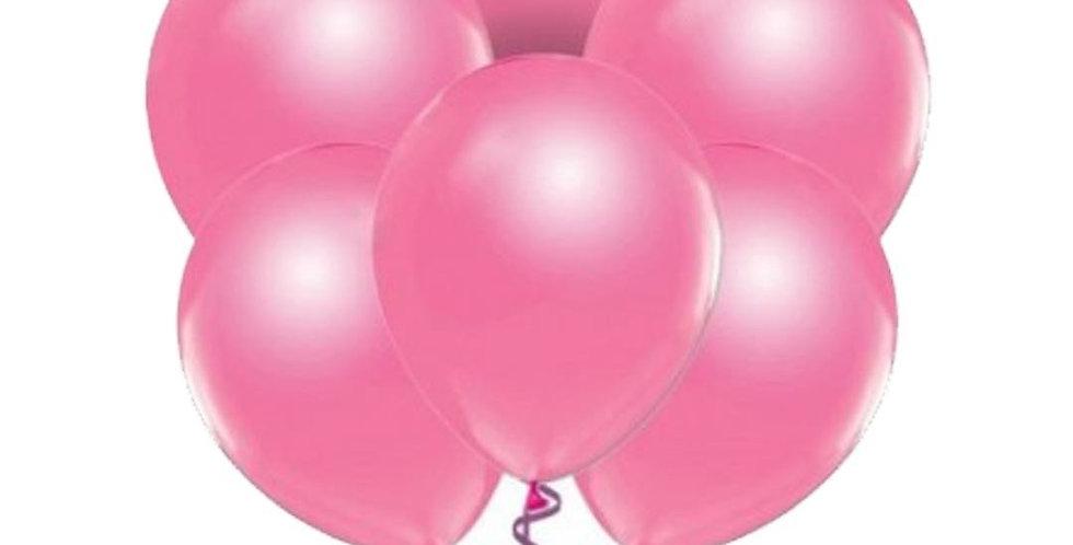 Metalik Pembe Balon 15 Adet