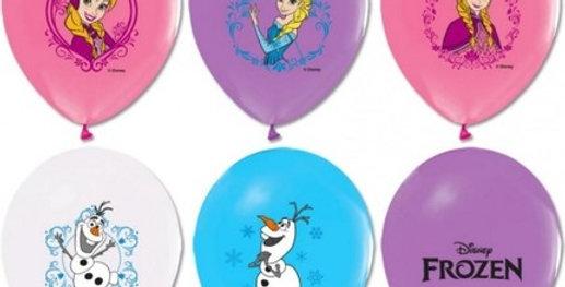 Frozen Doğum Günü Temalı Baskılı Lateks Balon - 10 Adet