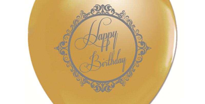 Happy Birthday Gold Balon - 10 Adet