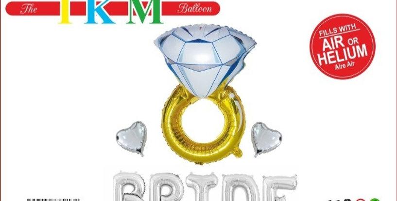 BRIDE  FOLYO BALON SETİ GÜMÜŞ