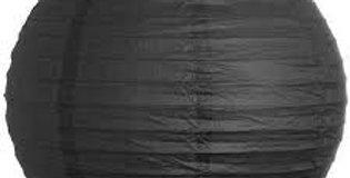 Siyah Yuvarlak Fener Süs (35 cm)
