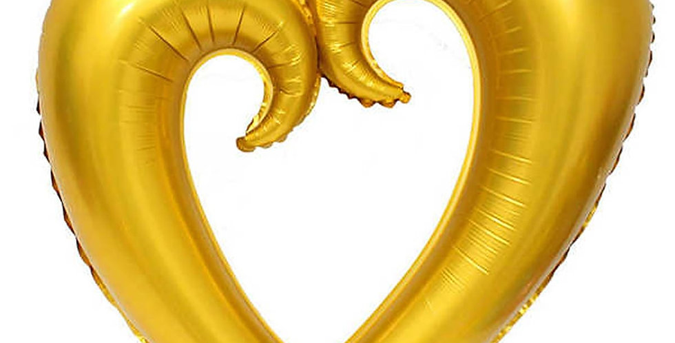 İçi Boş Kalp Folyo Balon 100 CM Altın