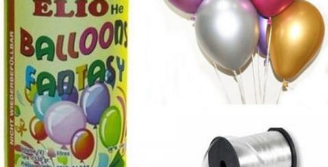 Helyum Tüpü 2.2 lt (20 Adet Parlak Metalik Balon Hediye
