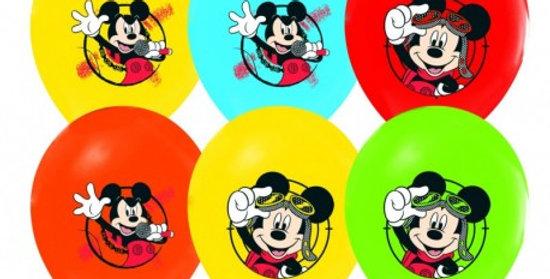 Mickey Mouse Doğum Günü Temalı Baskılı Lateks Balon - 10 Adet