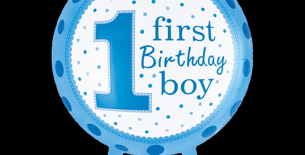 1 Yaş Erkek Doğum Günü Folyo Balon