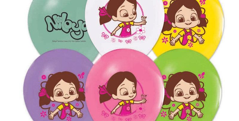 Niloya Doğum Günü Temalı Baskılı Lateks Balon - 10 Adet