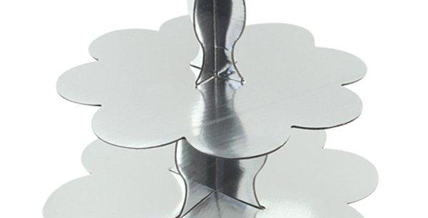 Gümüş Kek Standı 3 Katlı
