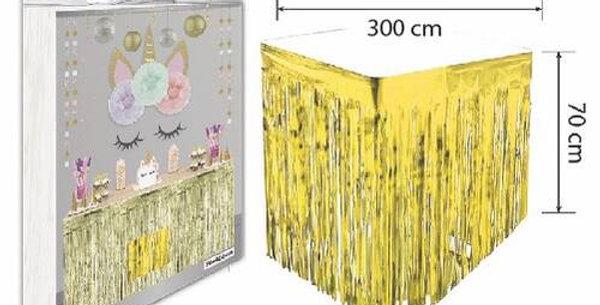 Gold Püsküllü Masa Eteği 70*300 cm