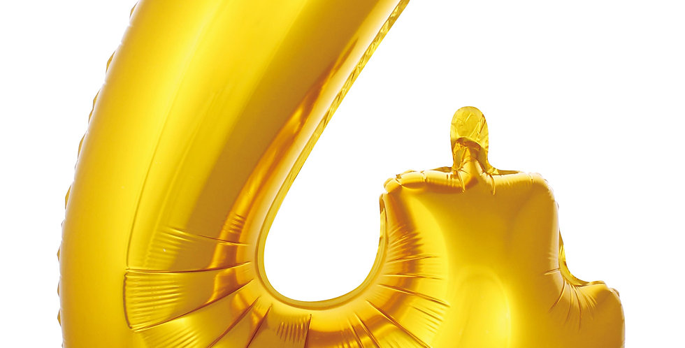 4- RAKAM FOLYO BALON GOLD 86 CM