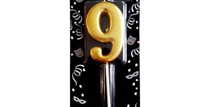 9 Yaş Mumu Gold
