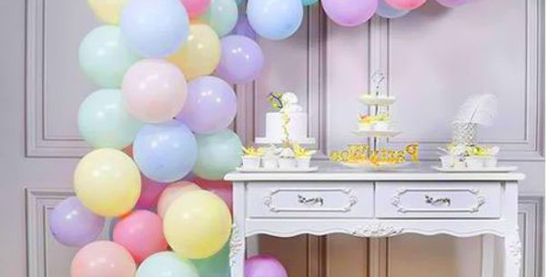 Hazır Eve Teslim Balon Rengarenk Makaron Konsept 5 Metre