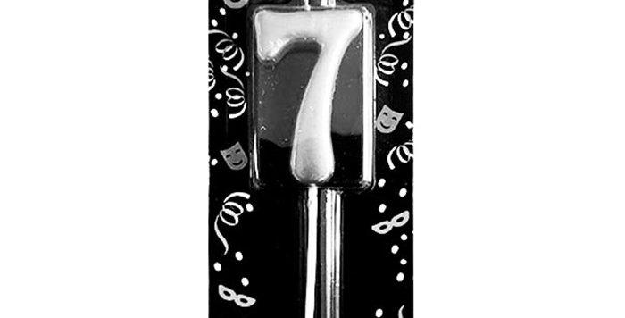 7 Yaş Mumu Gümüş