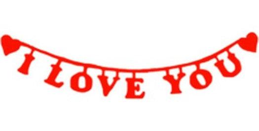 I Love You Keçe Süs
