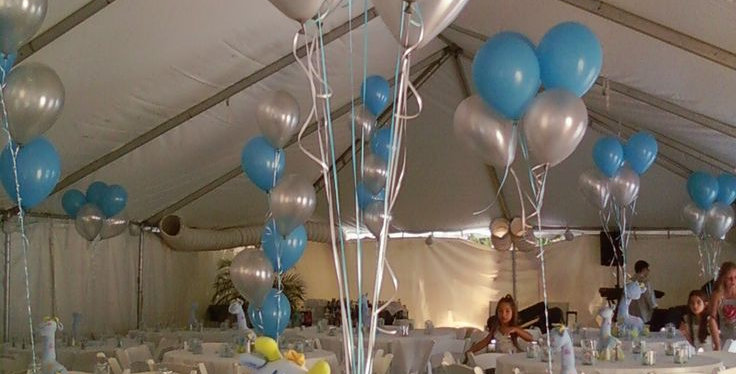 metallic flying balloons bundle silver