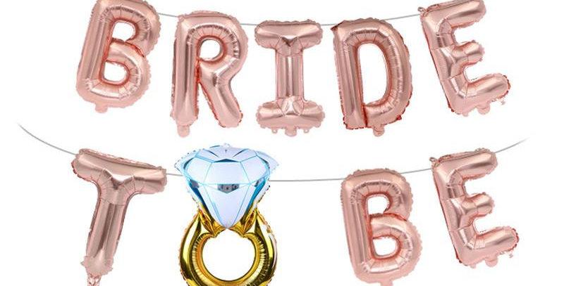 Bride To Be Temalı Rose Pembe Balon Seti
