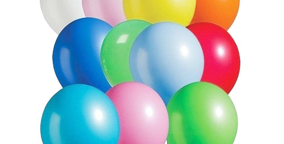 Pastel Karışık Renk  Balon 25 Adet