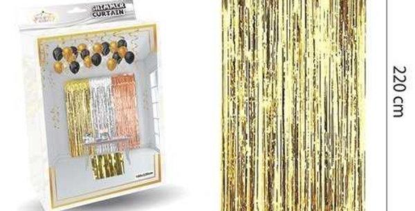 Parlak Duvar ve Kapı Perdesi Gold 100*220cm