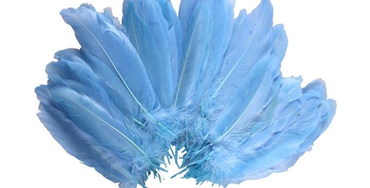 Şeffaf Balon İçi Tüy Açık Mavi (100 adet)