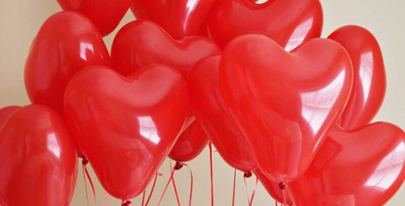 Heart  flying balloon bundle