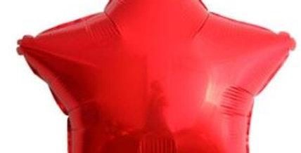 Yıldız Folyo Balon Kırmızı (45 cm)