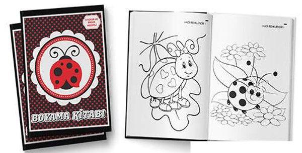 Uğur Böceği Boyama Kitabı (Sticker ve Maske Hediyeli)