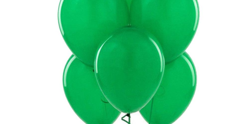 Metalik Yeşil  Balon 100 Adet