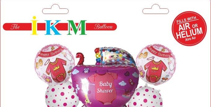 Baby Boy Pusetli Folyo Pembe Balon Set 5'li