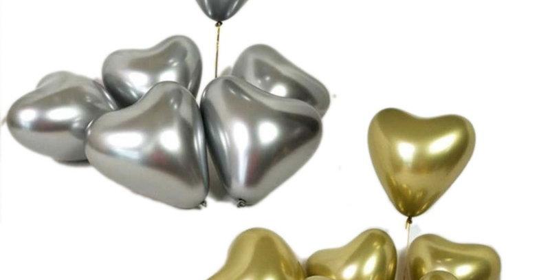 heart metallic flying balloon