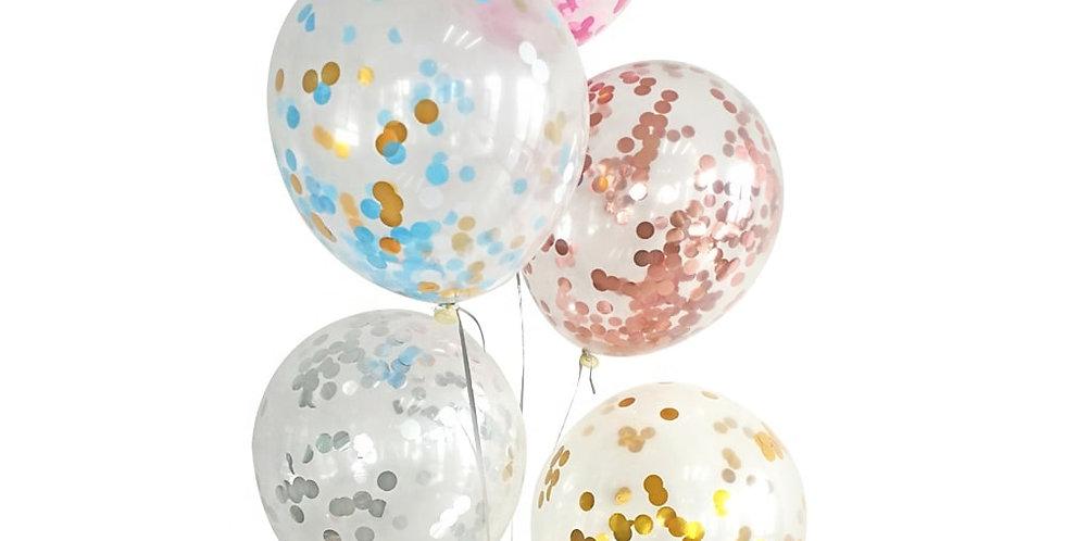 Uçan Simli Seffaf Lateks Balon 1 Adet