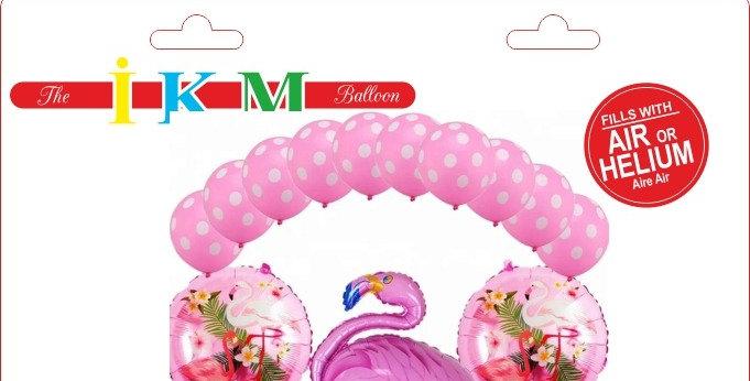 Flamingo Pembe Folyo Balon Set