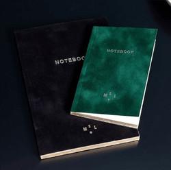 Cahier papier Note book vert noir Paris