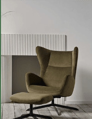 Fauteuil Velour 1970 Paris France