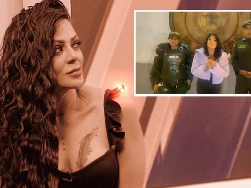 Marbelle sorprendió a policías con serenata privada y un mensaje de apoyo en medio del paro nacional
