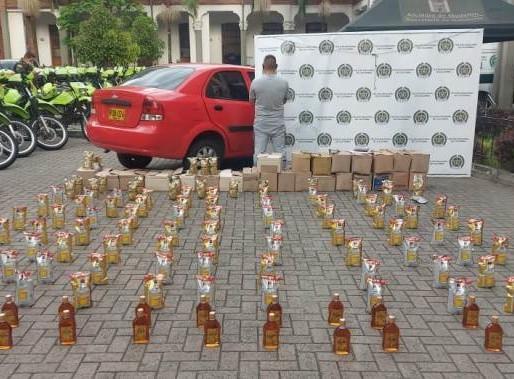 Gracias al sistema de videovigilancia se detecta carga de licor ilegal para distribuir en Medellín e