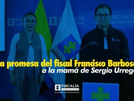 La promesa del fiscal Francisco Barbosa a la mamá de Sergio Urrego