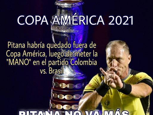 """Pitana queda fuera de Copa América, luego de meter la """"MANO"""" en el partido  Colombia vs. Brasil"""