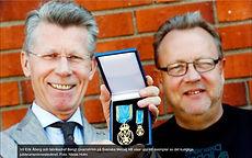Ekuriren Eskilstuna-företaget tillverkade kunglig minnesmedalj