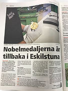 Eskilstuna-Kuriren Nobelmedaljerna är tillbaka i Eskilstuna