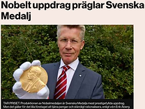 Di Nobelt uppdrag präglar Svensk Medaj