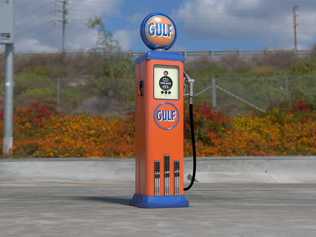 GULF Old School Gas Pump