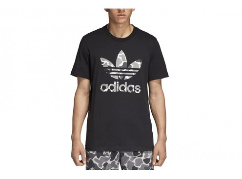 189ab220 Shop Adidas Camouflage Trefoil tshirt White Black DH4767 DH4779 and receive  worldwide FREE delivery.
