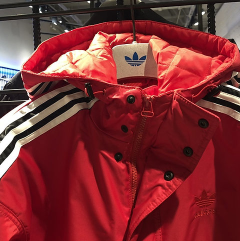 Adidas SST Stadion Jacket Red Winter Coat Hoody DH4570