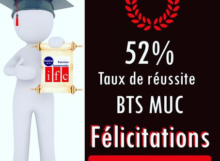 52% de Réussite pour les BTS MUC