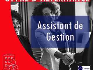 OFFRES D'ALTERNANCE : ASSISTANT DE GESTION