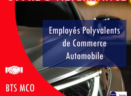 OFFRES D'ALTERNANCE : EMPLOYÉS POLYVALENTS DE COMMERCE AUTOMOBILE