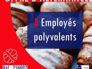 🚨 OFFRE D'ALTERNANCE : 8 EMPLOYÉS POLYVALENTS DE COMMERCE BOULANGERIE