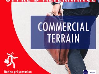 URGENT - OFFRE D'ALTERNANCE : COMMERCIAL TERRAIN