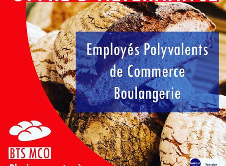 OFFRES D'ALTERNANCE : Employés polyvalents de commerce - Secteur Boulangerie / Référence : N001